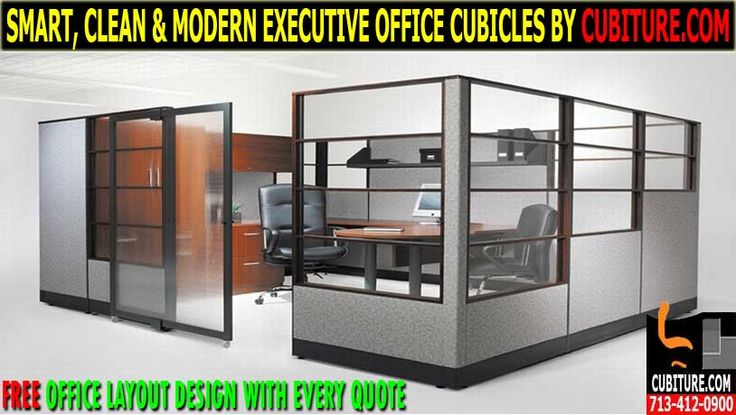 Modern Executive Office Cubicles by CUBITURE.COM Offers New, Used & Refurbished Office Furniture & Workstations. FREE QUOTE 713-412-0900 & USA FREE SHIPPING