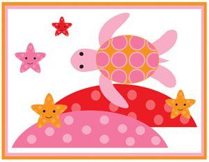 Sea Life Star Fish Orange Pink Baby Girl Nursery Wall Art Border Stickers Decals | eBay
