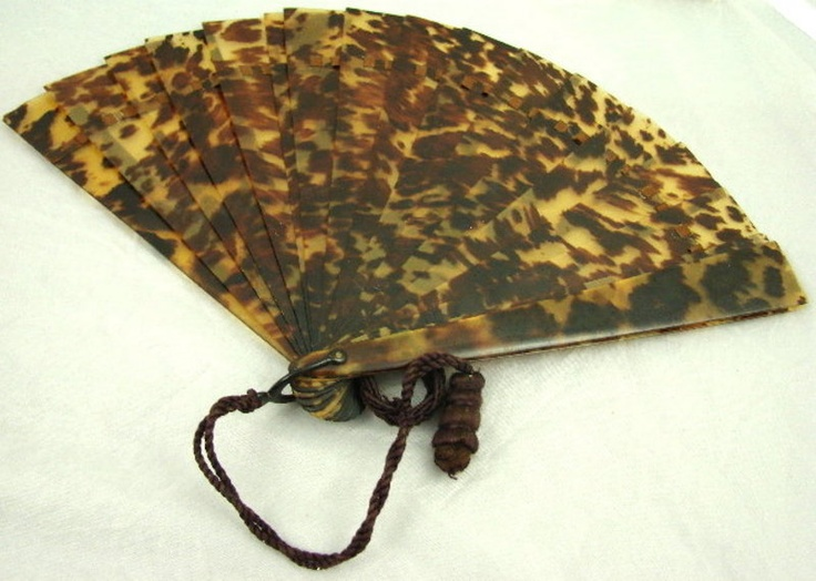 Victorian Tortoise Shell Hand Held Fan