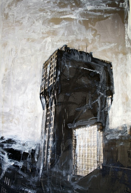 Great young artist RICCARDO PATERNO' CASTELLO       100x150   mixed media  2009