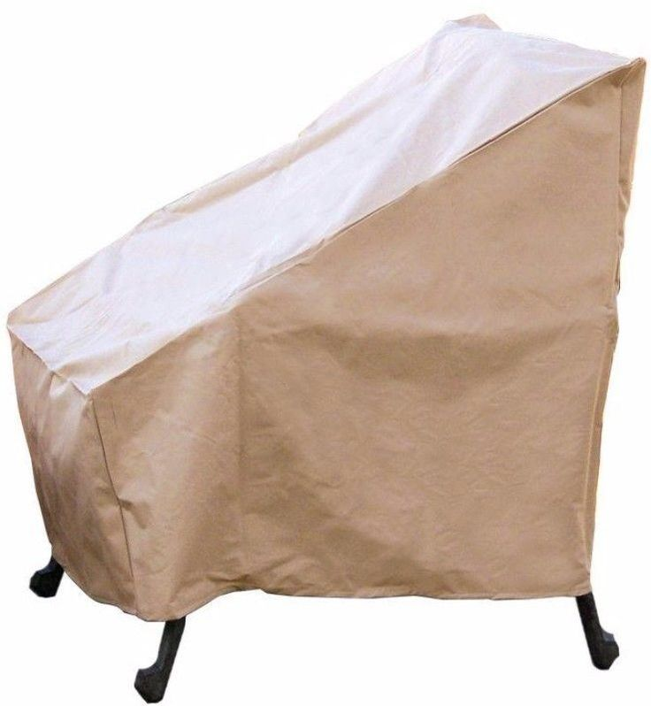 High Back Patio Outdoor Chair Cover Weather Resistant With PVC Coating