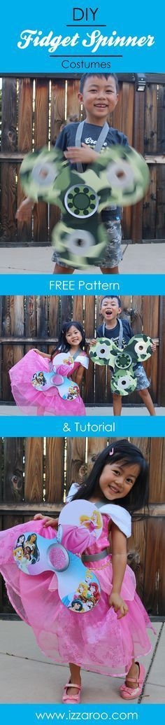 Halloween 2017 - DIY Fidget Spinner Themed Family Costumes. FREE Pattern & Tutorial.