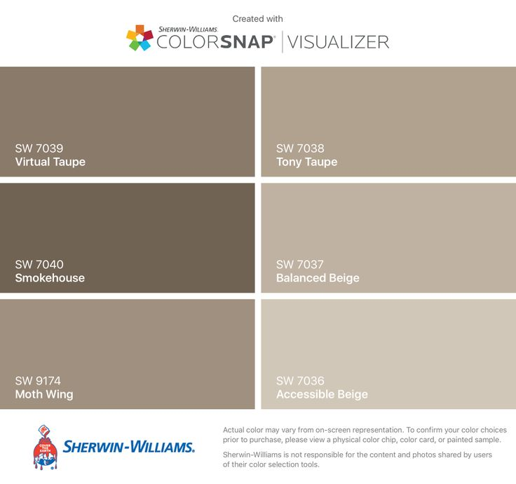I found these colors with colorsnap visualizer for iphone for Sherwin williams virtual painter