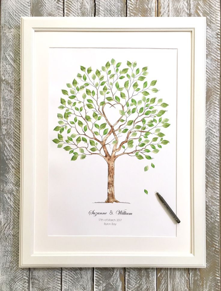 Wedding tree Guest book A2 size 80-120 guest signatures, by Daisywood.