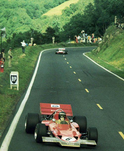 France 1970 Rindt Lotus 72C - another fantastic circuit - Clemont Ferrand