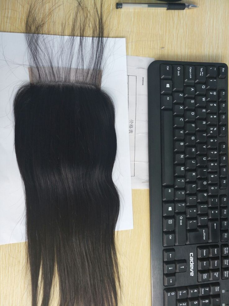 straight lace closure with baby hair