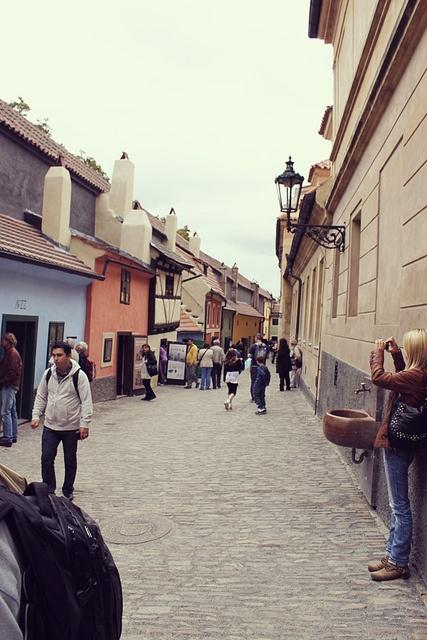 Golden Lane, Prague via Flickr.
