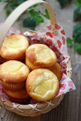 パイナップルとクリームチーズのマフィン♡
