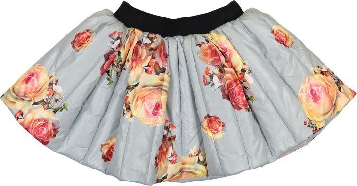 """CAROLINE BOSMANS """"Frituur Bambi"""" Mat Flower Ice Blue Skirt"""