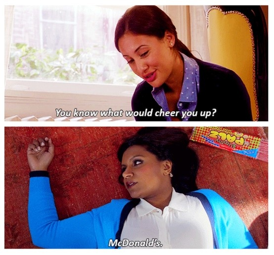 Sometimes I think Mindy and I are the same person.