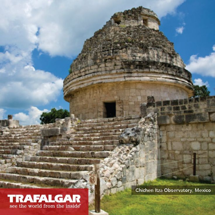 Did you know there were observatories in Mayan times? This is El Caracol, or 'The Snail', which has windows and doors aligned to astronomical events. http://www.trafalgar.com/treasures-of-the-yucatan-2014