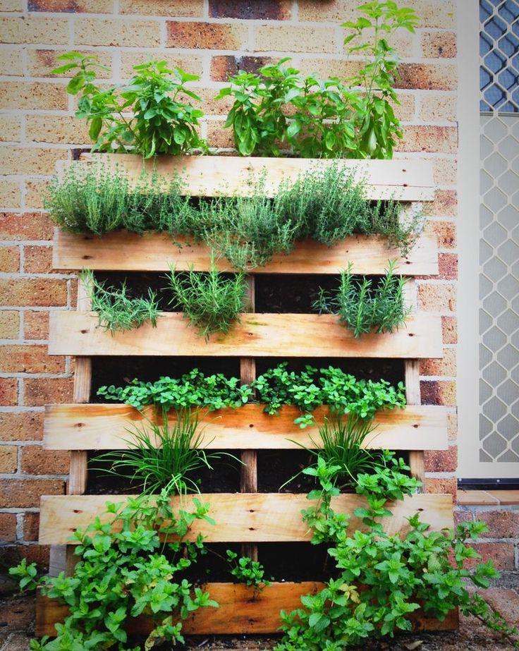 pallet herb garden diy