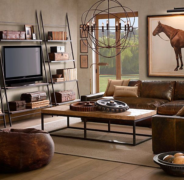 Restoration Hardware Country Living Room