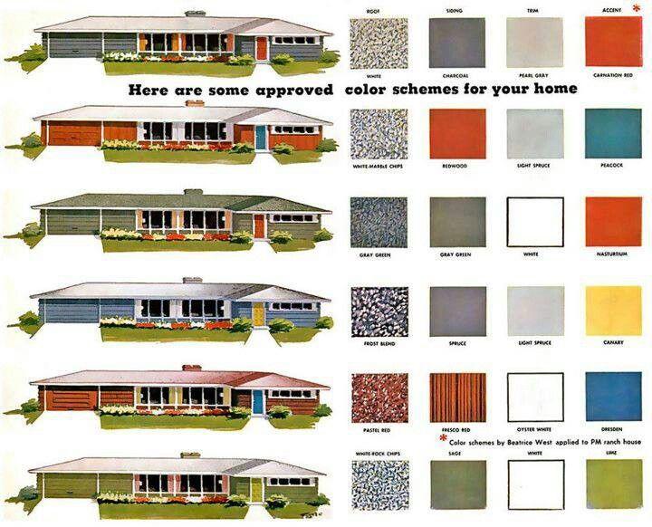 Mcm Color Schemes Mid Century Modern Pinterest