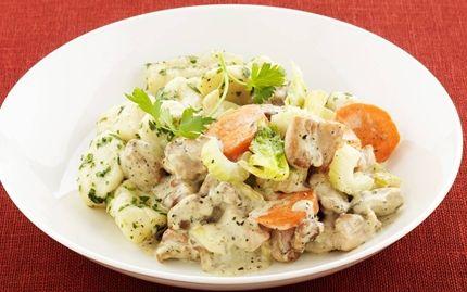 Hemlagad gnocchi med kycklinggryta - Recept - Arla