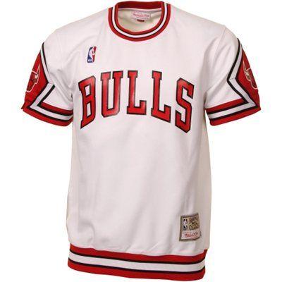 Mitchell & Ness Chicago Bulls Hardwood Classics Authentic Shooting T-Shirt - White