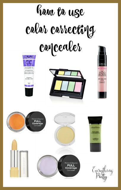 How to Use Color Correcting Concealer via www.yourbeautyblog.com