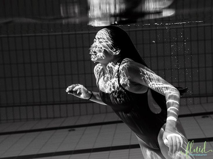 Swimmer underwater photoshoot