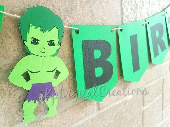 Hulk birthday banner, the hulk birthday party, hulk birthday party ideas, Marvel hulk banner Check out this item in my Etsy shop https://www.etsy.com/listing/562798225/hulk-birthday-banner-avengers-birthday