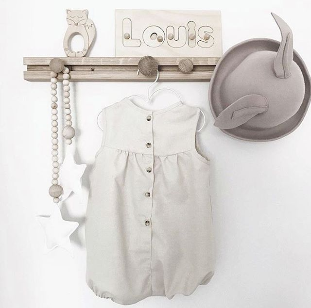 P R O U D L Y  M A D E  I N  A U S T R A L I A. Our Gorgeous little Miller Romper is made with natural linen and hand made in a small workshop right here in Melbourne. Every button and trim is sourced locally from other small businesses.  📷 @_honeypunch