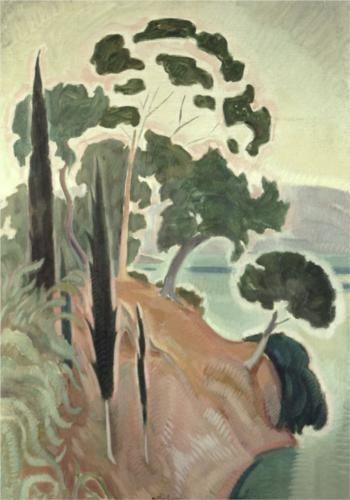 Corfu Landscape - Konstantinos Parthenis, 1914