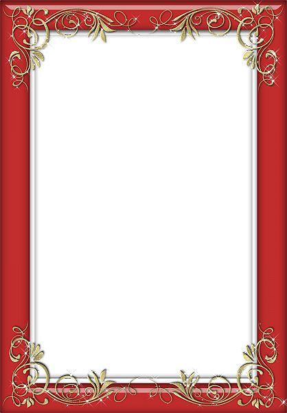 Transparent Frames   Holiday Red Transparent Frame