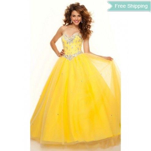 Cheap Ball Gown Strapless Floor-length Organza Evening Dress Under Price 110 At Gifilight.com.