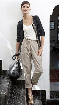 How To Select the Perfect Women's Capri Pants -Womens capri high waist chinos from laredoute-
