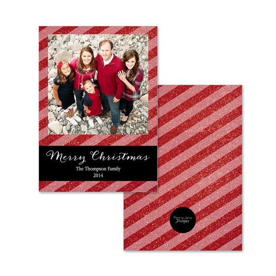 Custom Photo Christmas Card  Digital File Card by PennyJaneDesign