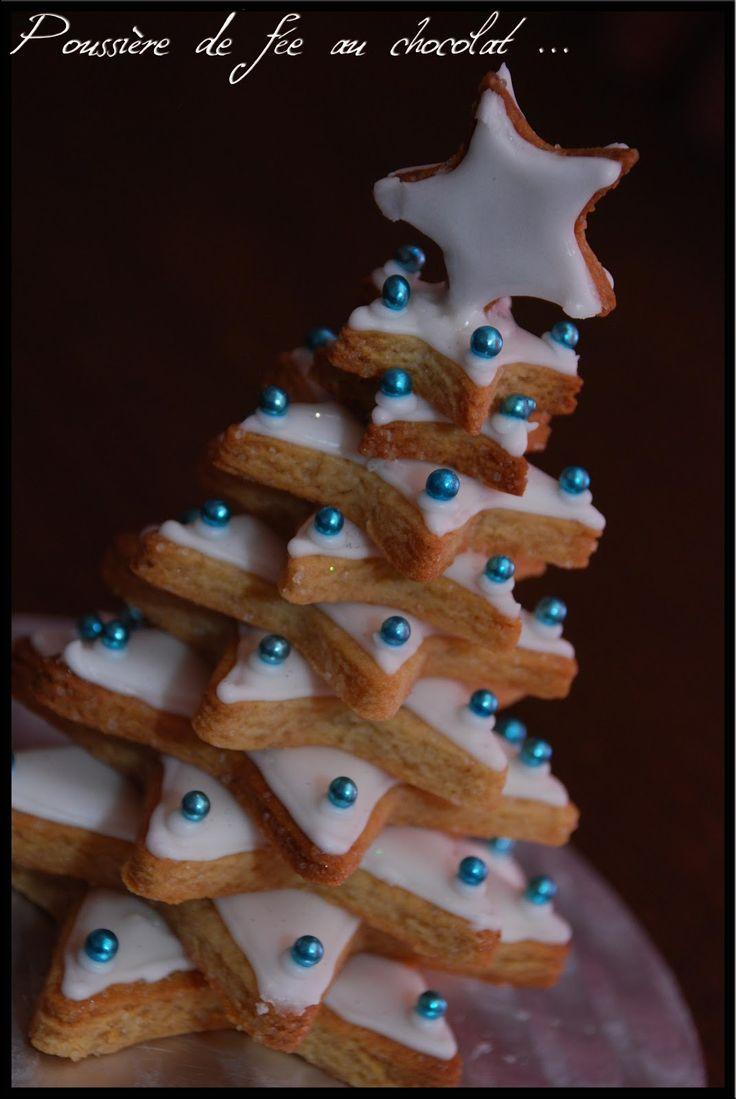Poussière de fée au chocolat: Sablés de Noël saveur pain d'épices et son glaçage royale en forme de sapin