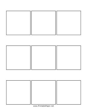 This comic template provides a set of three three-panel comics. This template is perfect both for practicing your art and creating finished comics. Free to download and print