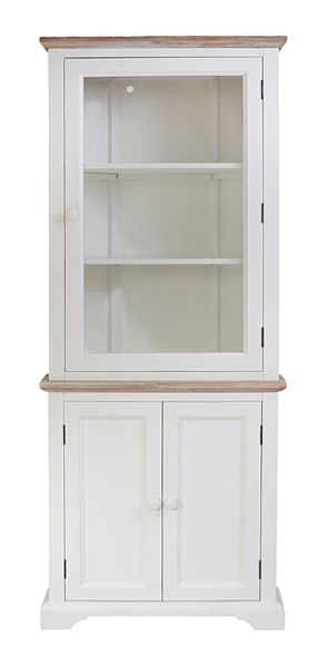 corner display cabinet blakeney white