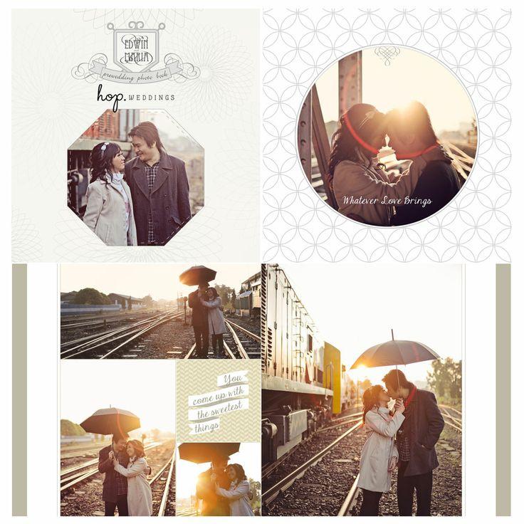 Edwin & Maria Prewedding Photobook Design, photo by HOP, edit & design by Owner of HOP & Wenny Lee