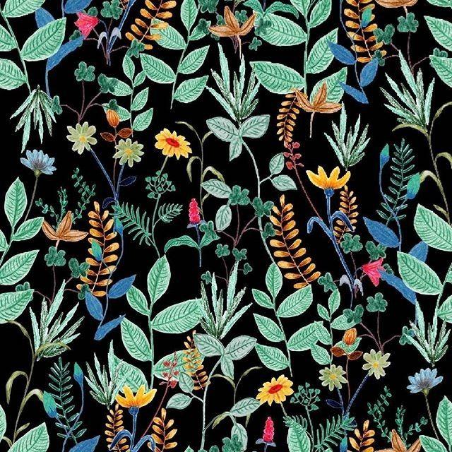 ba_carrizo #floral #estampa #estampafloral #flowers #flowerpainting #surfacepattern #surfacedesign #patternobserver #handpainted #printandpattern #surfacespatterns #aquarela #watercolor #floralprint #garden