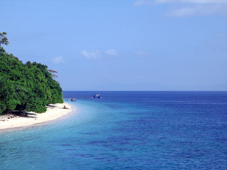 Blue Sea in Hunimua Beach-Ambon