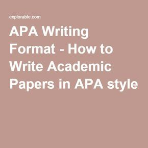 Academic style guide writing research