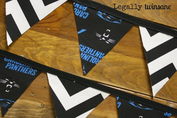 Bunting banner Carolina Panthers football party by LegallyTwinsane, $13.00