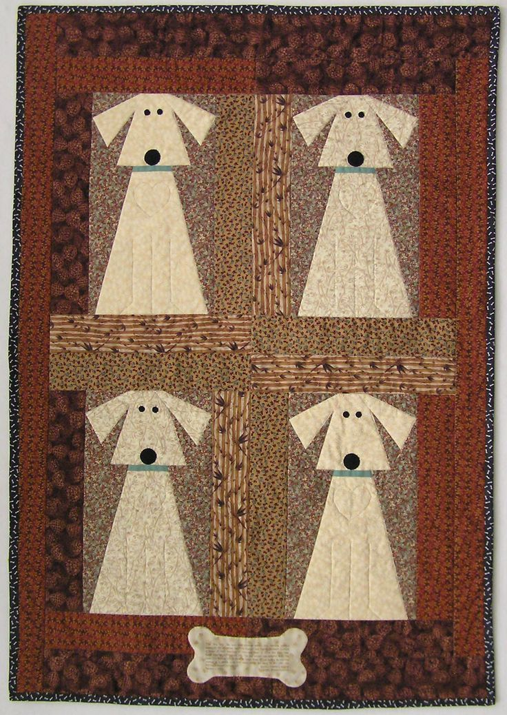 """Big Dog"" by Martha P. Supnik:  ""The dog pattern was adapted from the book 'It's Raining Cats and Dogs' by Janet Kime."""