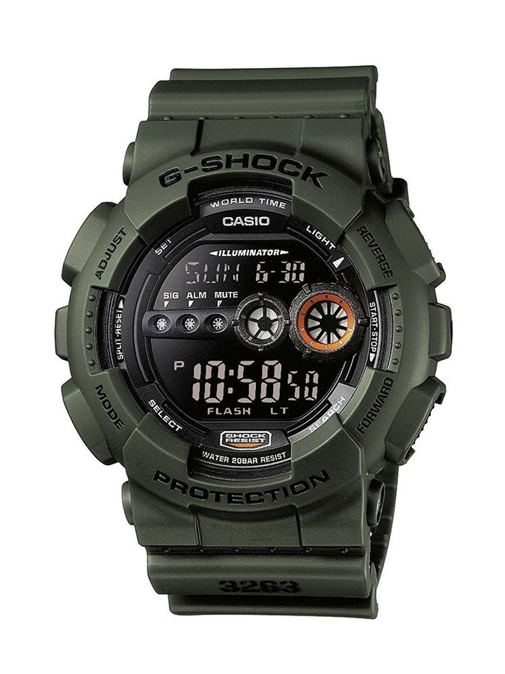 Casio Men Wrist Watch Auth G-Shock Gd-100Ms-3Er Gents Military Rare Limited JP #CASIO #Military