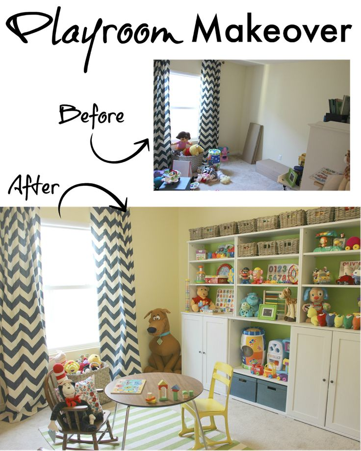 Playroom Makeover On A Budget. Great ideas for a playroom makeover on a budget. Lots of items from Ikea. Playroom makeover on a budget for two kids. Adorable playroom!