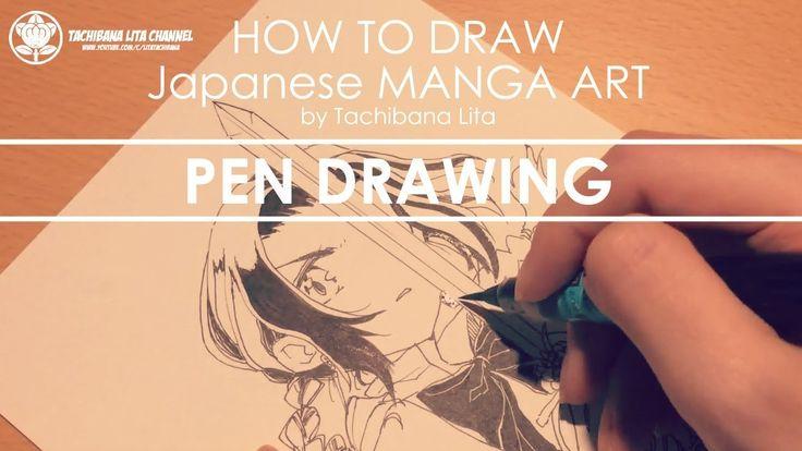 ✔ Pen Drawing *Detail up #inktober2017   How to draw Manga Art 2017.10.06