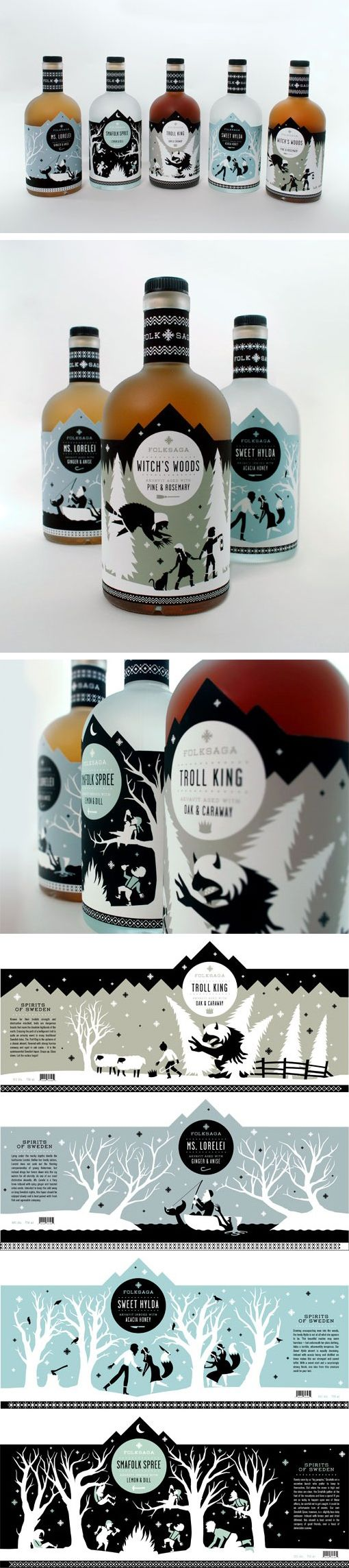Folksaga 酒與童話的相遇 Not sure if this is to drink but love the fairy tale labels