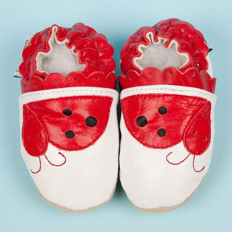 Woddlers LadyBug soft sole #walkers way too cute :-0 From Bizzy Bubs Australia http://www.bizzybubsaustralia.com/products/woddlers-ladybug #shoes #baby #OMGdrooling