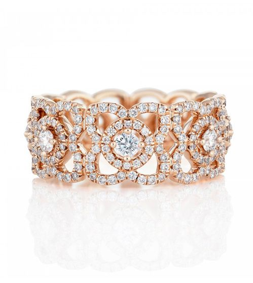 De Beers bague Enchanted Lotus