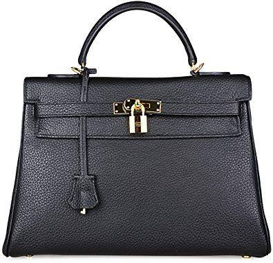 754bc3ca8 Cherish Kiss Women's Genuine Leather Tote Bag Cross Body Shoulder Padlock  Handbags Review