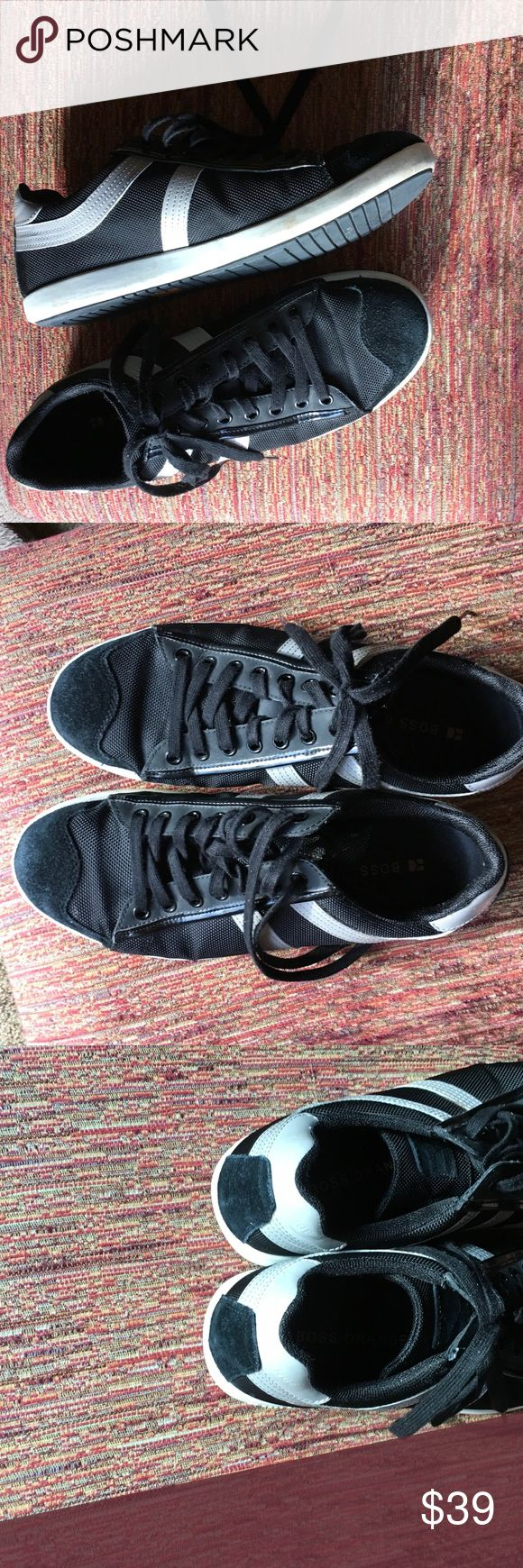 New Listing Boss Orange sneakers EUE 42.  Men's 9 or women's 11.5.  Very nice black suede and mesh sneakers.  Excellent condition..only worn a few times.  110407 Hugo Boss Shoes Sneakers
