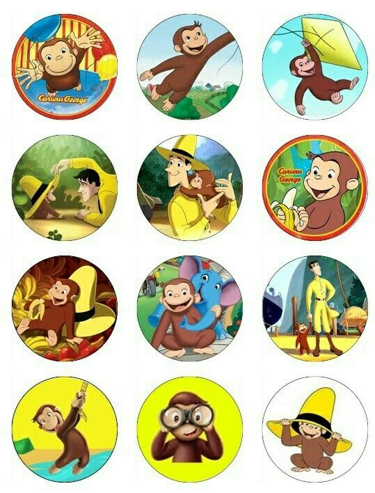 541 best templates images on pinterest free printable for Curious george cake template