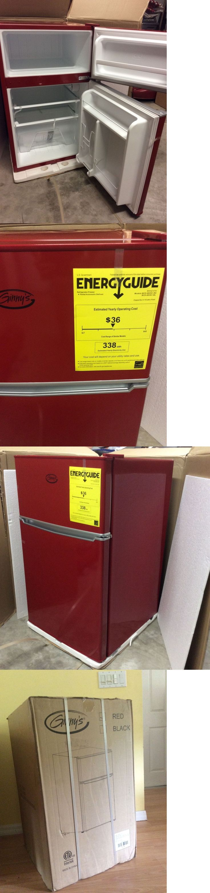 Mini Fridges 71262: New! Red 3.1 Cu. Ft.Mini Compact Refrigerator With Freezer Still In Box!! -> BUY IT NOW ONLY: $175 on eBay!