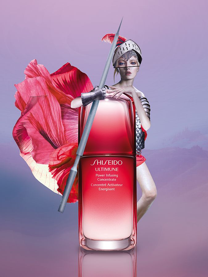 #marenesdar #collage #illustration #red #girl #knight #shiseido #beauty #cosmo #cosmopolitan