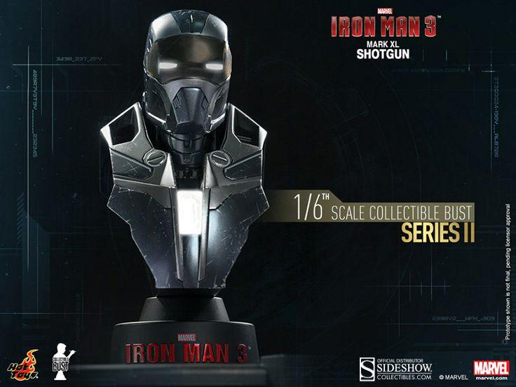 Pré-Encomenda:  Iron Man 3 Bust 1/6 Series 2 Iron Man Mark XL Shotgun 11 cm  Para mais informações clica no seguinte link: http://buff.ly/1mYl7g0  #ToyArt #HotToys #Marvel #IronMan